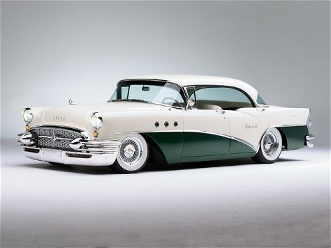 1955 Buick Special Daddy bought new on Friday, August 5, 1955 cream colored and forest green