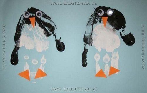 Pinguine kiga winter pinterest pinguine winter for Winter basteln im kindergarten