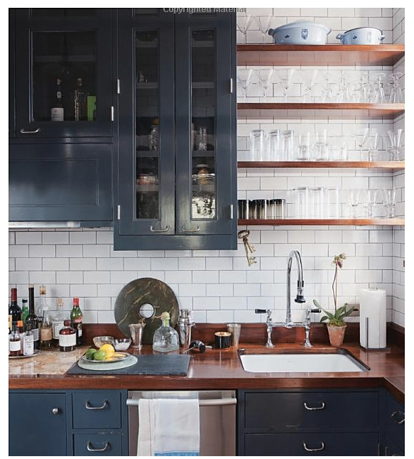 About Navy Cabinets On Pinterest Open Shelving In Kitchen Cabinet