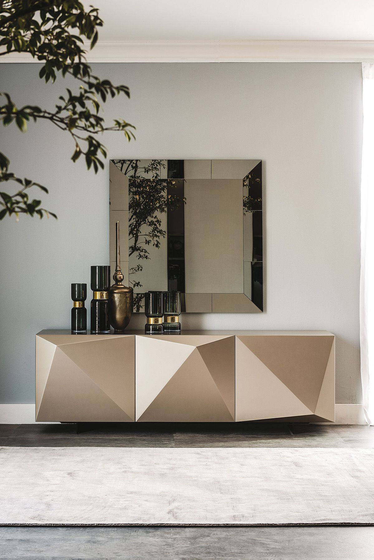Lacquered Sideboard With Doors KAYAK By Cattelan Italia Design Andrea  Lucatello