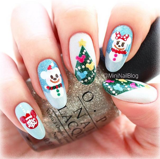 Disney Christmas Nails Disney Nails O O Pinterest Disney