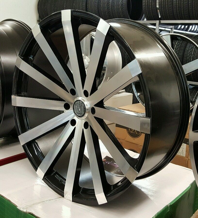 Details About 32 Inch Black Diablo Elite Rims Wheels 22 24 26 28 30 Chrome Rims Rims Custom Wheels Cars