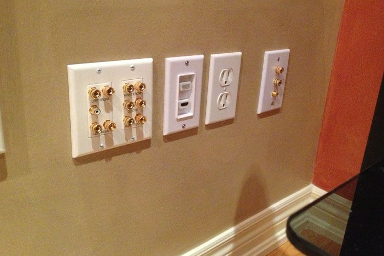 Home theater installation service toronto plates on wall