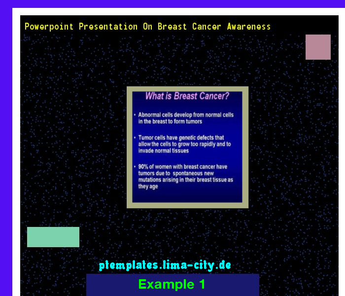 powerpoint presentation on breast cancer awareness. powerpoint, Powerpoint templates