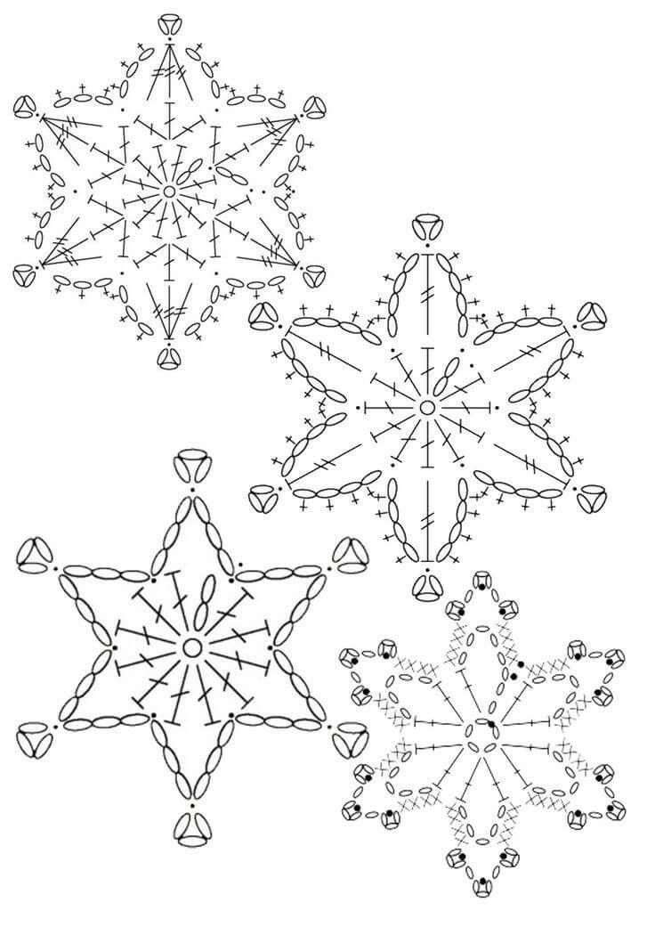 śnieżynki | Diseno | Pinterest | Nieve, Ganchillo y Adornos