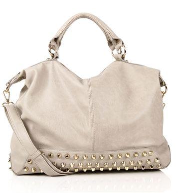 Stone Studded Bottom Handbag