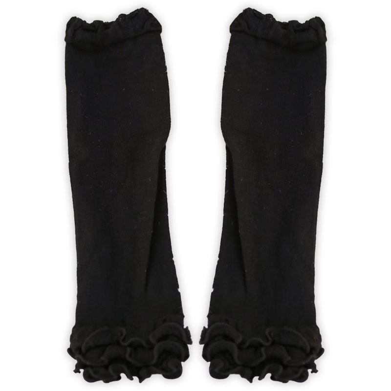 Black Ruffle Leg Warmers