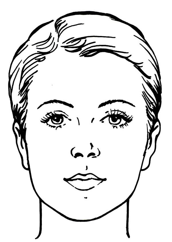 Water Works Face Coloring Page Face Chart Coloring Pages Makeup Face Charts