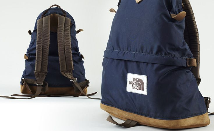7e3baae19 The North Face brown label teardrop backpack with foam straps ...