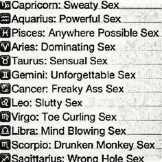 Sex horoscope compatibility