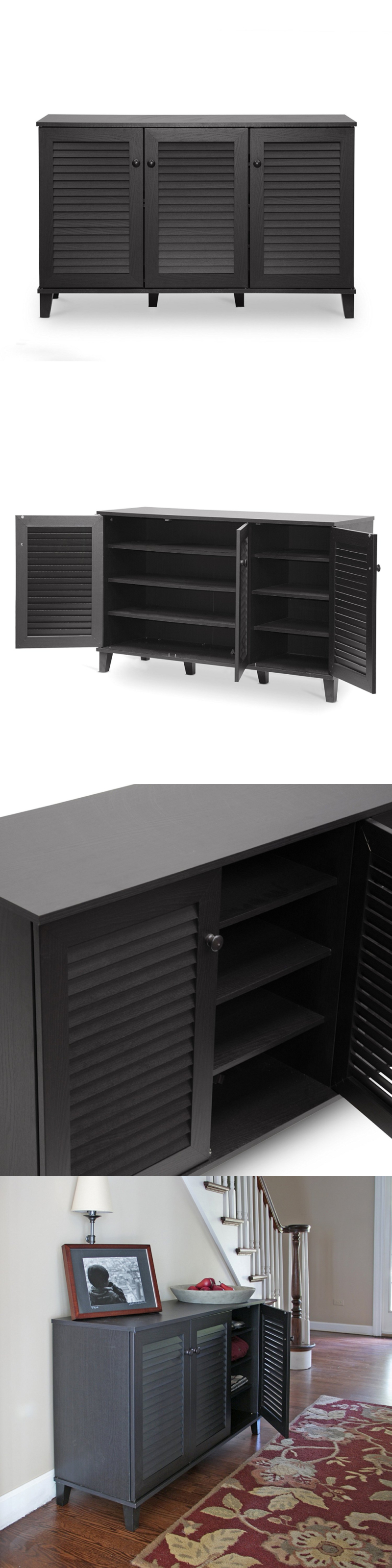 Shoe Organizers 43506: Baxton Studio Warren Shoe-Storage Cabinet ...