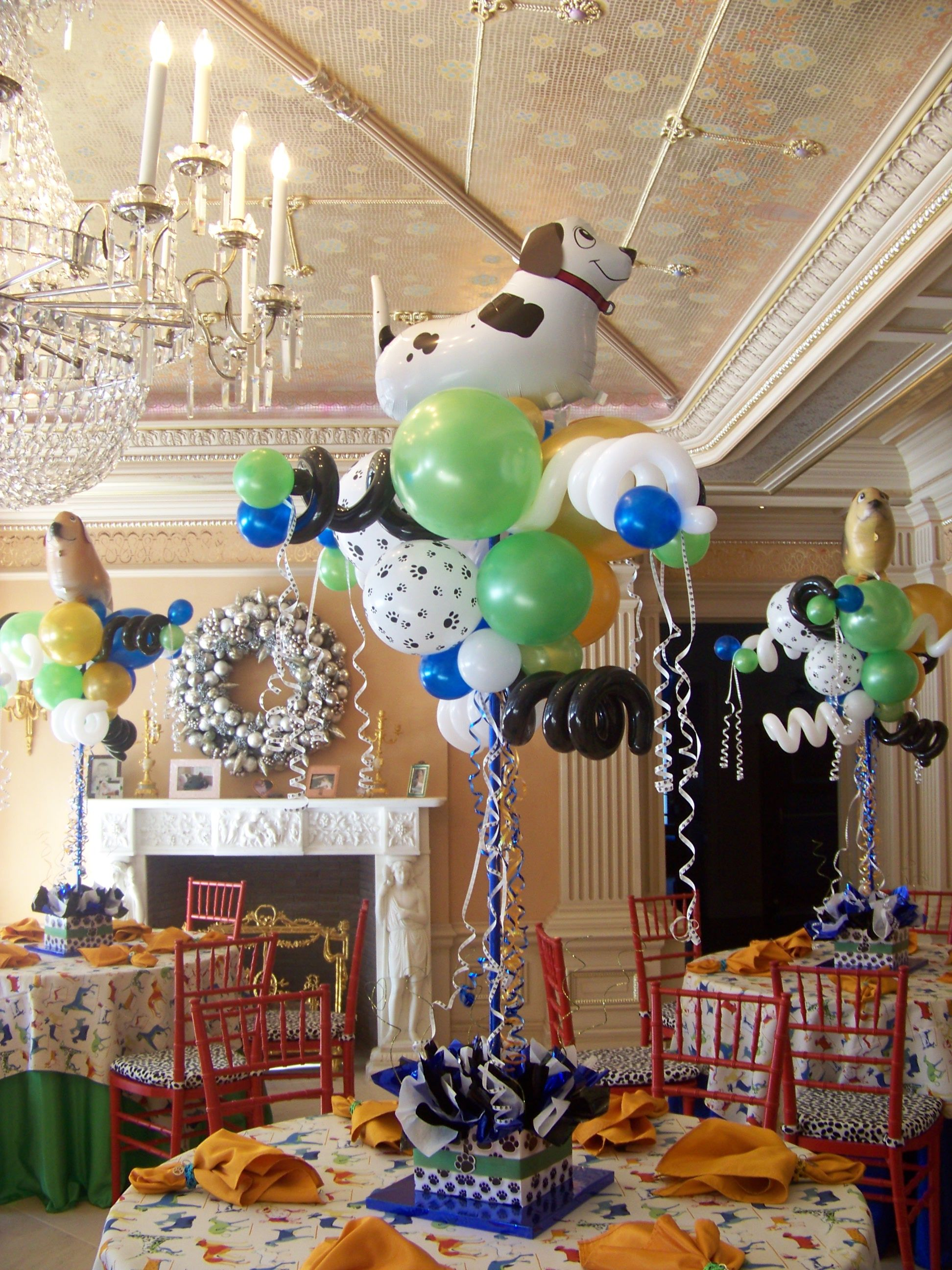 Puppy Dog Balloon Centerpieces Puppy Birthday Parties Kids Centerpieces Birthday Centerpieces