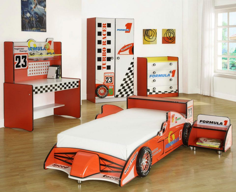Best The Little Devils Direct Racing Car Bedroom Set Is Great 640 x 480