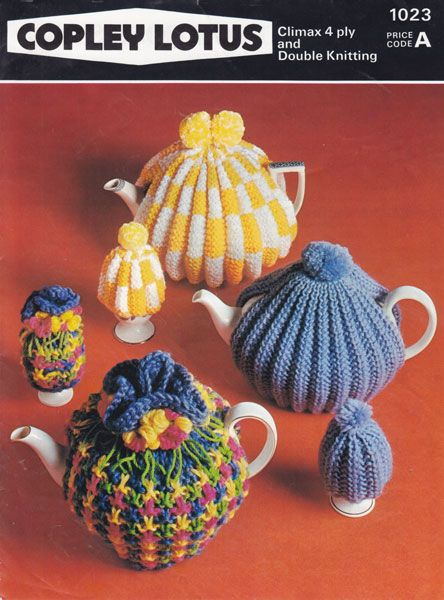 Vintage Tea Cosy Knitting Pattern 1960s Home Made Household Stuff