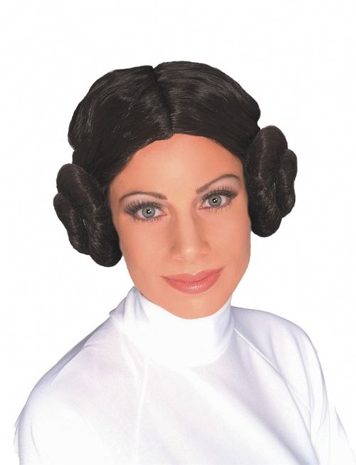 Princess Leia Star Wars Halloween Wig - Be Princess Leia from Star wars  this Halloween in this cute wig. Great looking buns on the side and a nice  dark ... 6e0fd3e4d