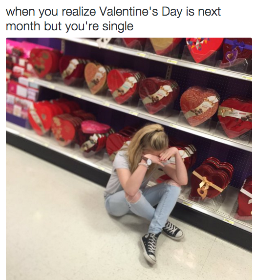 When Feb 14 Is Pretty Much Always A Nightmare Date For You 23 Images That Single Humor Singles Awareness Day Single People