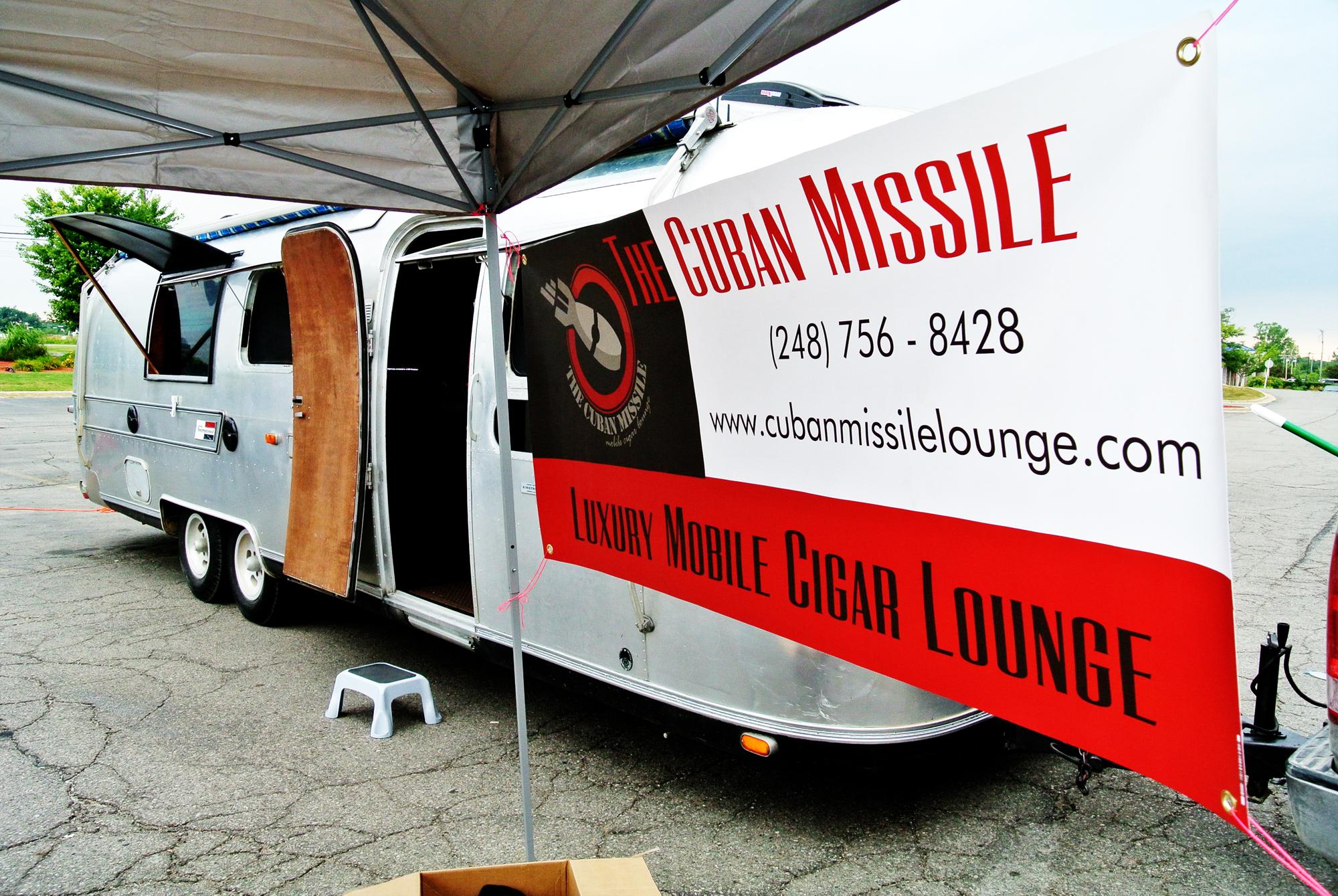 Cuban cigar bar from Airstream