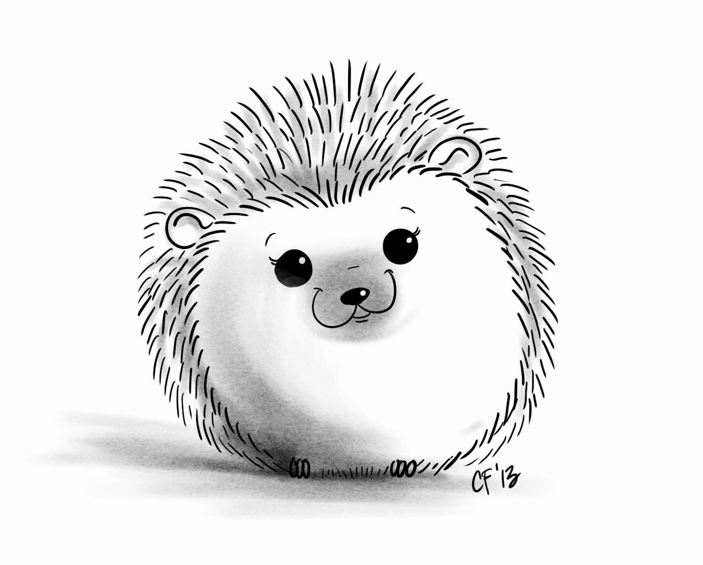 Line Drawings Of Cute Animals : Hedgehog drawing quoteko pinterest