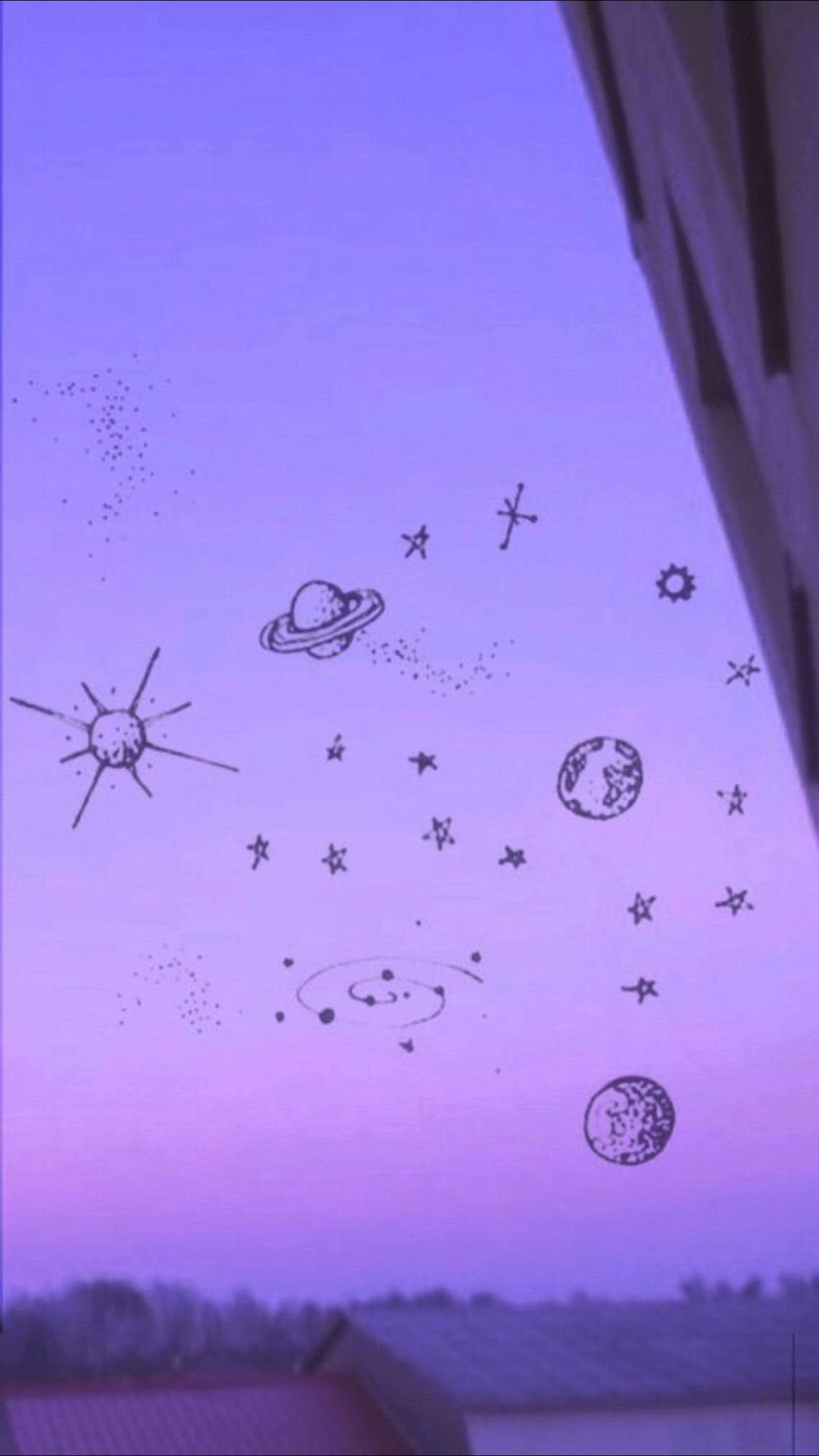 Wallpaper Hp Aesthetic Purple
