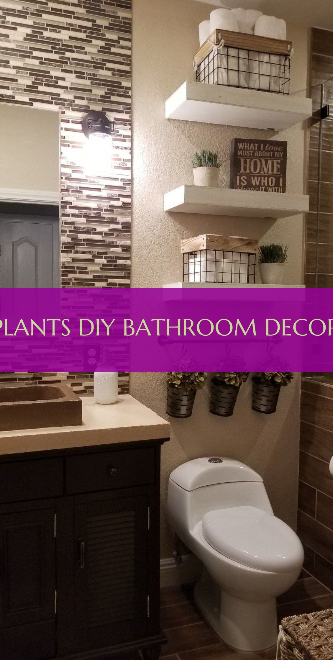 Plants diy bathroom decor