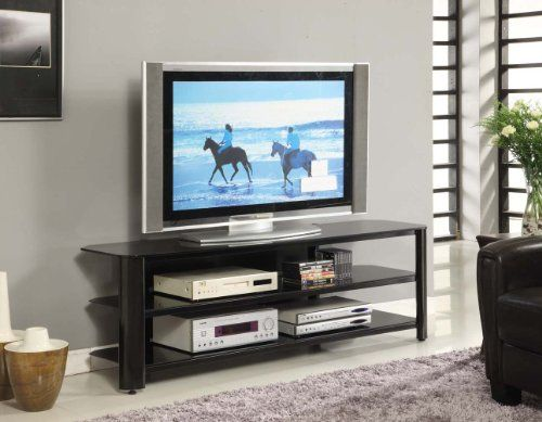 Innovex Oxford Tv Stand 65 Inch Black Http Www Specialdaysgift Com Innovex Oxford Tv Stand 65 Inch Black Black Tv Stand Glass Tv Stand Black Tv Cabinet