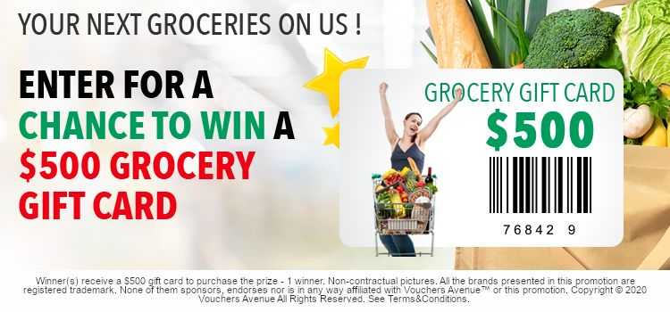 Vouchers Avenue Free Groceries in 2020 Free groceries