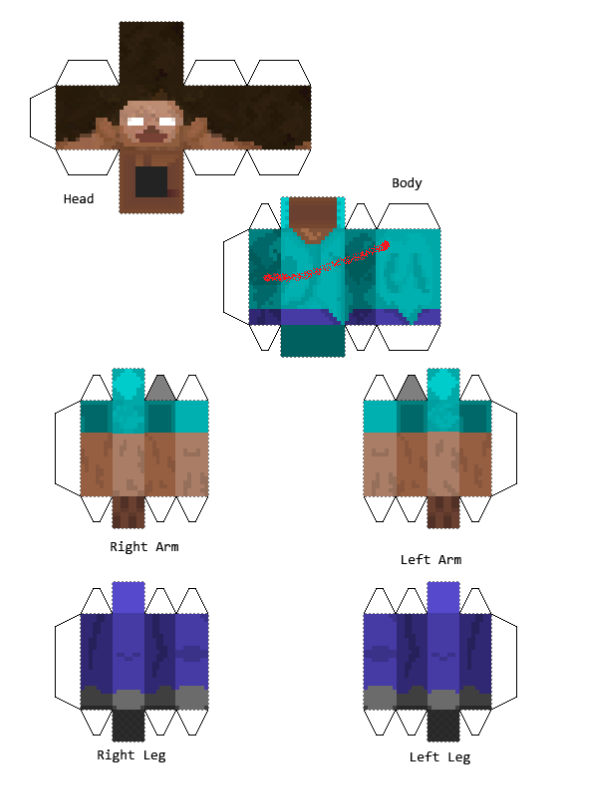 Papercraft Sliced Herobrine Not A Skin Halloween Pinterest - Skins fur minecraft herobrine