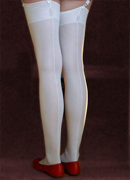 97688a7c687 Run-resistant ff seamed stockings  Sanda  - 40den