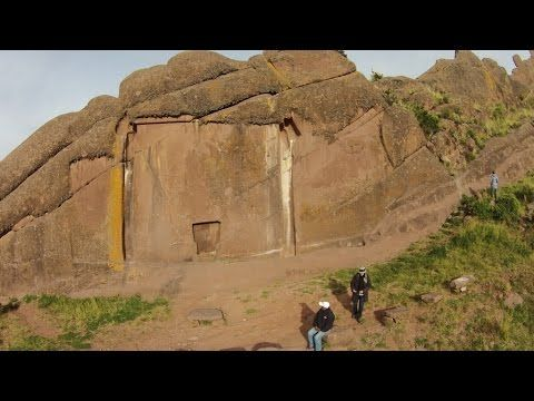 Flight Over The Megalithic Devil's Doorway In Peru - YouTube
