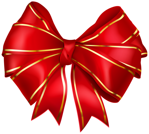 Red Bow With Gold Edging Transparent Png Image Free Clip Art Clip Art Red Bow