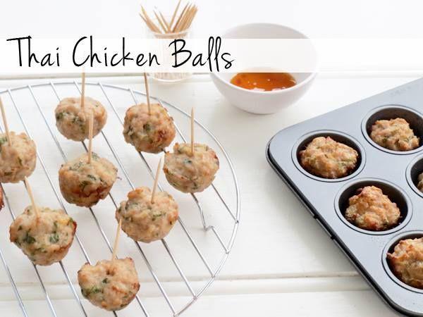 Thai Chicken Balls Recipe Easy Chicken Balls And Thai Chicken