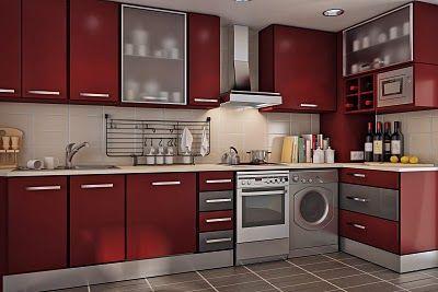 Stylish Red Kitchen Design
