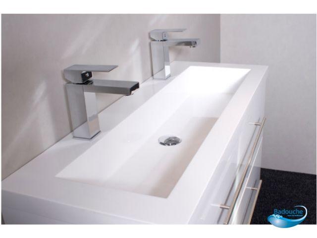 dubbele wastafel 100 cm  Google zoeken  Badkamer  Pinterest  Toilet # Wasbak Lamp_182834