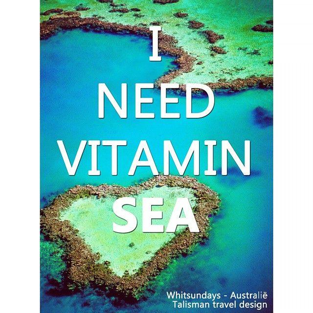 Sea Travel Quotes: I Need Vitamin Sea #talismanquote #travelquote