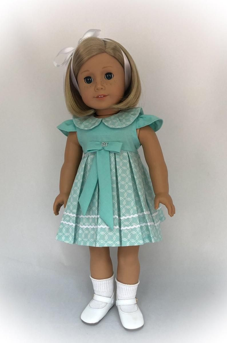 American Girl Doll Clothes, Historical Doll Clothes, 18 American Girl Doll Dress, 18 Doll Clothes, Collector Doll - by BringingJoyBoutique #historicaldollclothes
