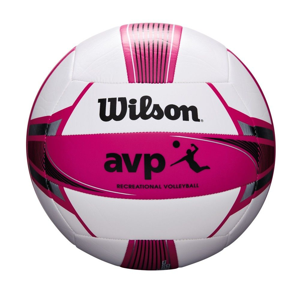 Wilson Sporting Good Women S Avp Replica Beach Game Volleyball Pink White Beach Games Wilson Sporting Goods Fun Sports