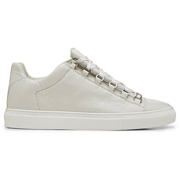 4faf8980dd57 Balenciaga Arena Creased Leather White Low Top Sneaker (4 405 SEK) ❤ liked  on