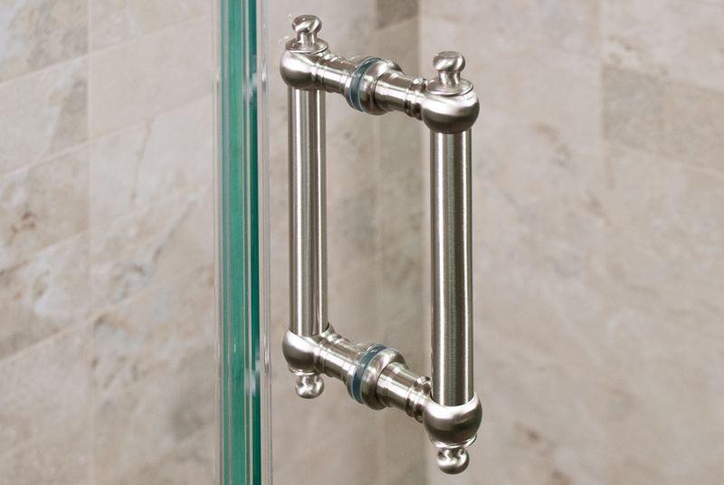 Brushed Nickel Shower Door Handle | Shower door handles, Door ...
