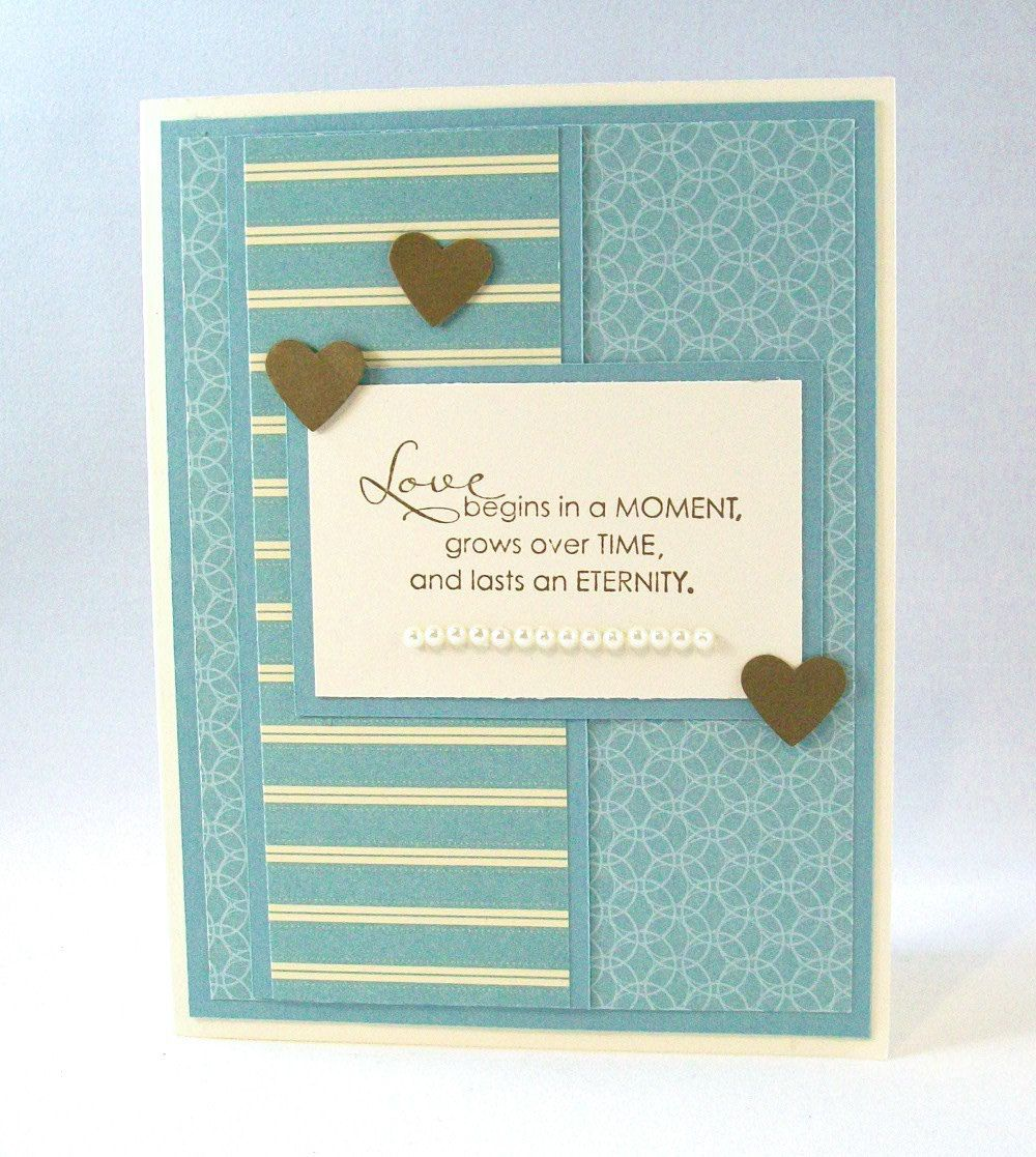 Elegant handmade wedding card also perfect for anniversary or