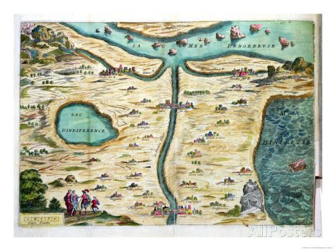 The Carte De Tendre A Map Of An Imaginary Country Don T Trust