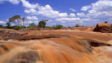 ルガード滝ケニア カスケード 自然 高解像度で壁紙