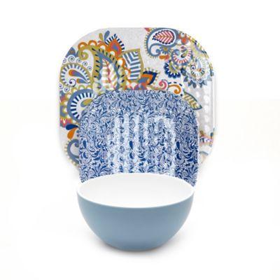 Q Squared Sanibel Melamine Dinnerware Collection Bedbathandbeyond