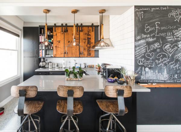 cuisine industrielle 43 inspirations pour un style industriel rustic industrial kitchen. Black Bedroom Furniture Sets. Home Design Ideas
