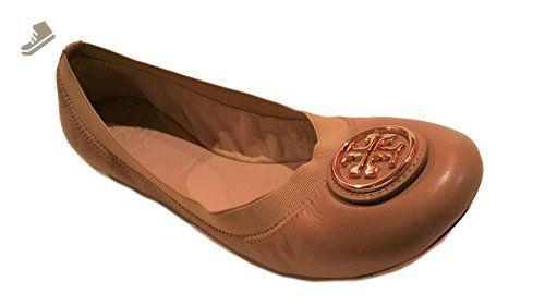 385853a030034 Tory Burch Shoes Flats Ballet Caroline Leather Elastic (7.5, Sand ...
