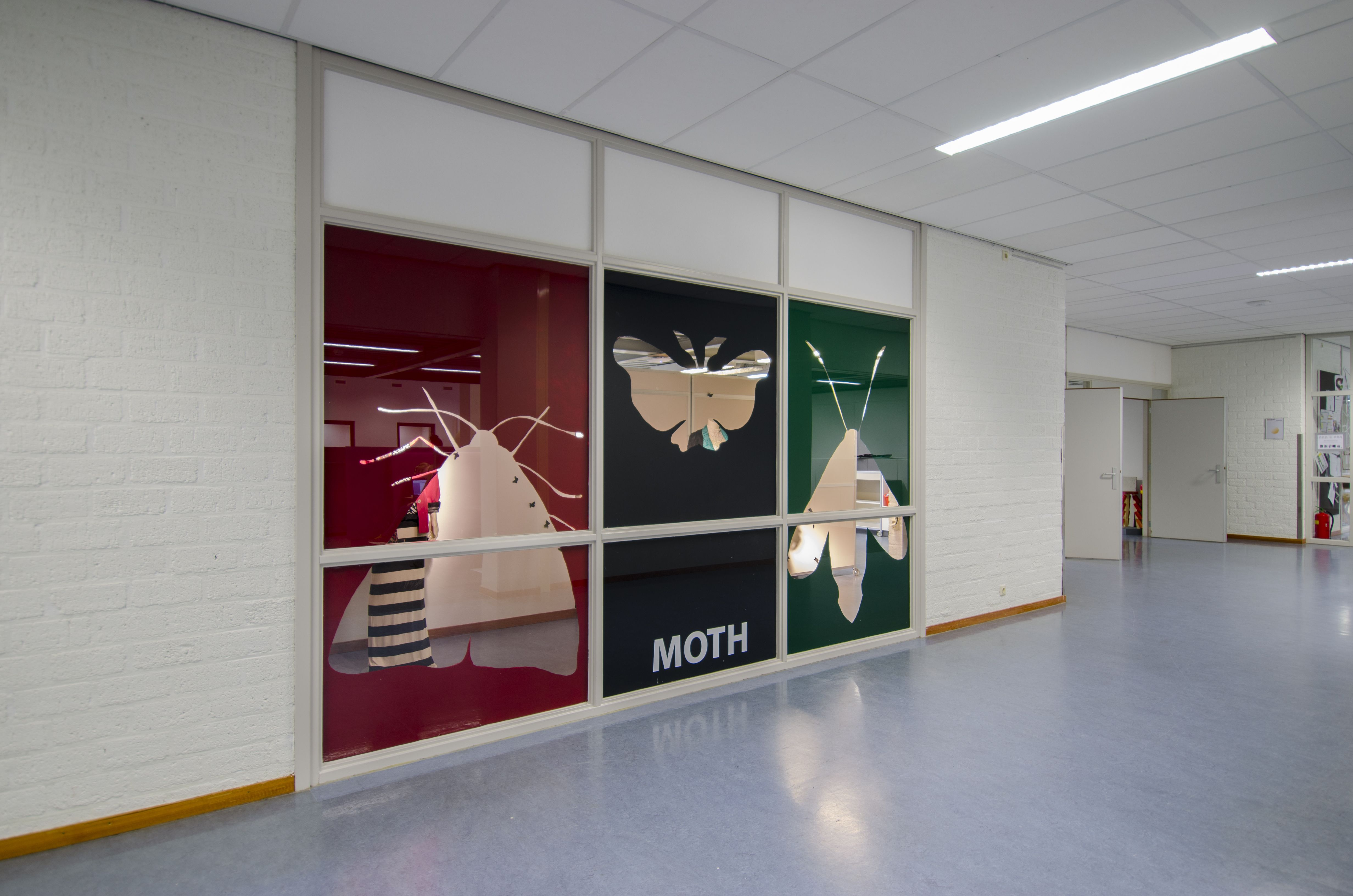 design + photographer : Joni Bezemer ___ MOTH window display