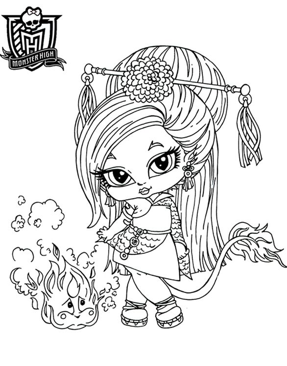 monster high baby coloring pages # 0