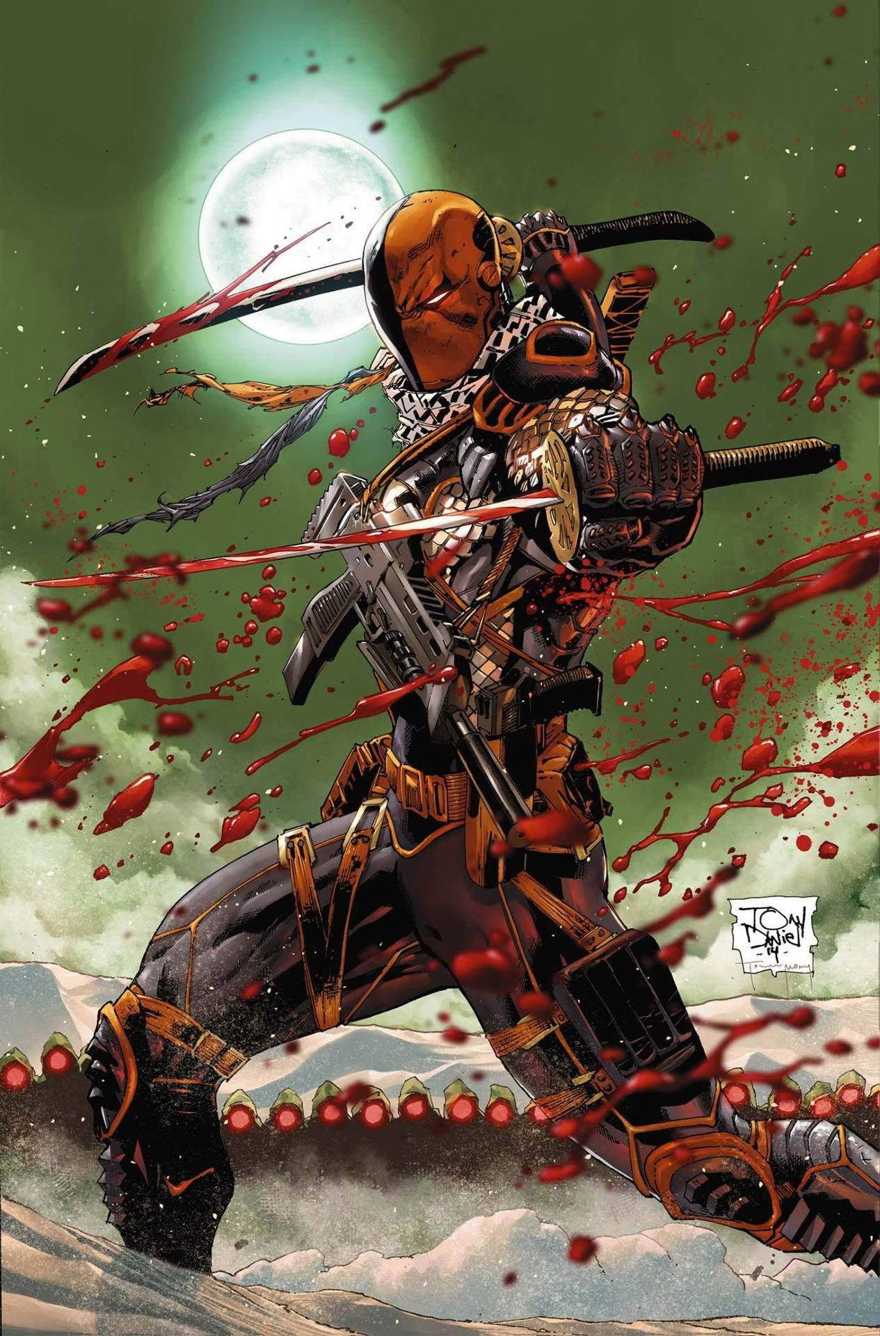 Deathstroke #3 by Tony Daniel, colors by Tomeu Morey.