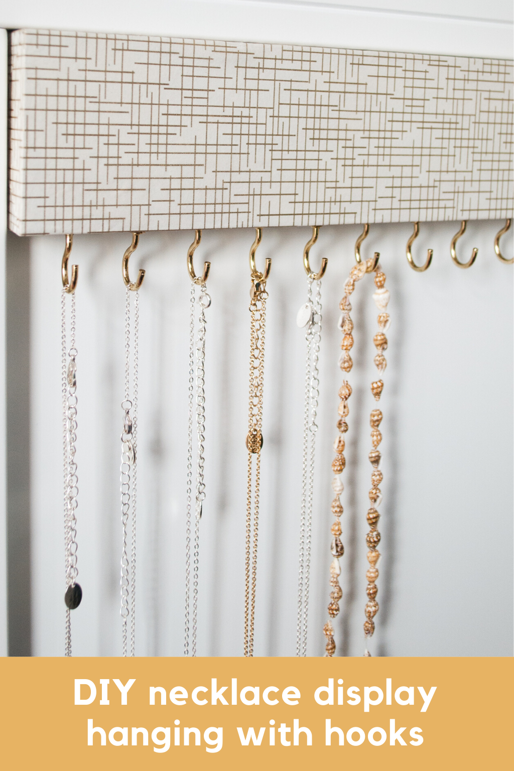 Easy Diy Jewelry Organizer For Tangle Free Necklaces Hanger Necklace Display