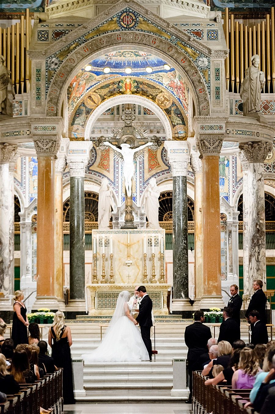 Wedding Photos By Saint Louis Wedding Photographer Ashley Fisher Photography Wedding Ceremony At The Cathedral B St Louis Wedding Cathedral Basilica St Louis
