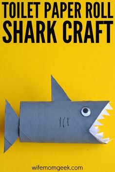 Shark Toilet Paper Roll Craft